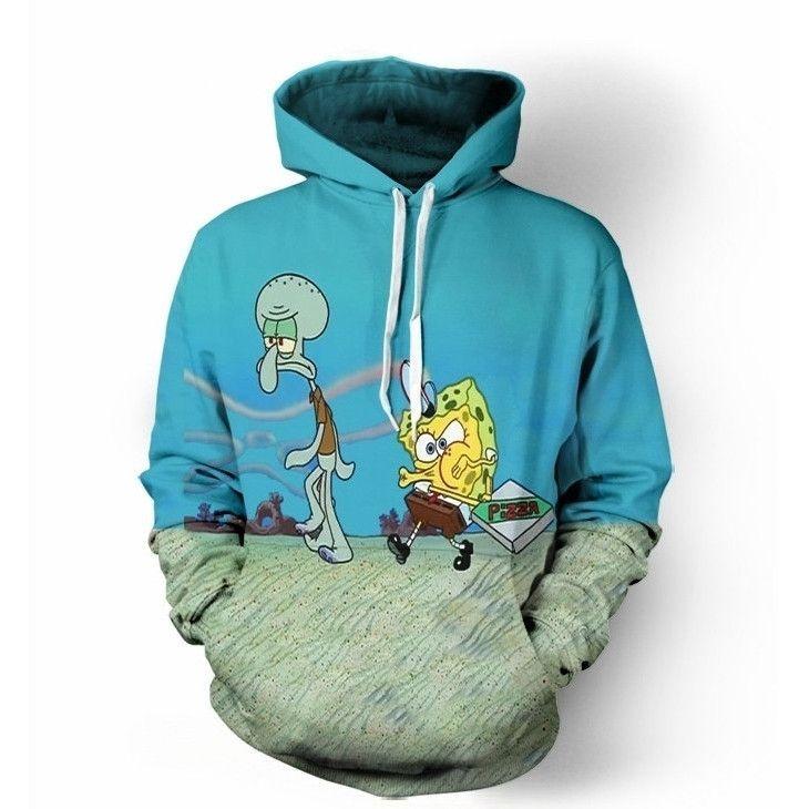 Krusty Krab Pizza Hoodie Hoodies Spongebob Sweatshirts