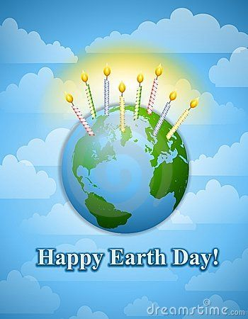 Happy Earth Day Birthday Candles