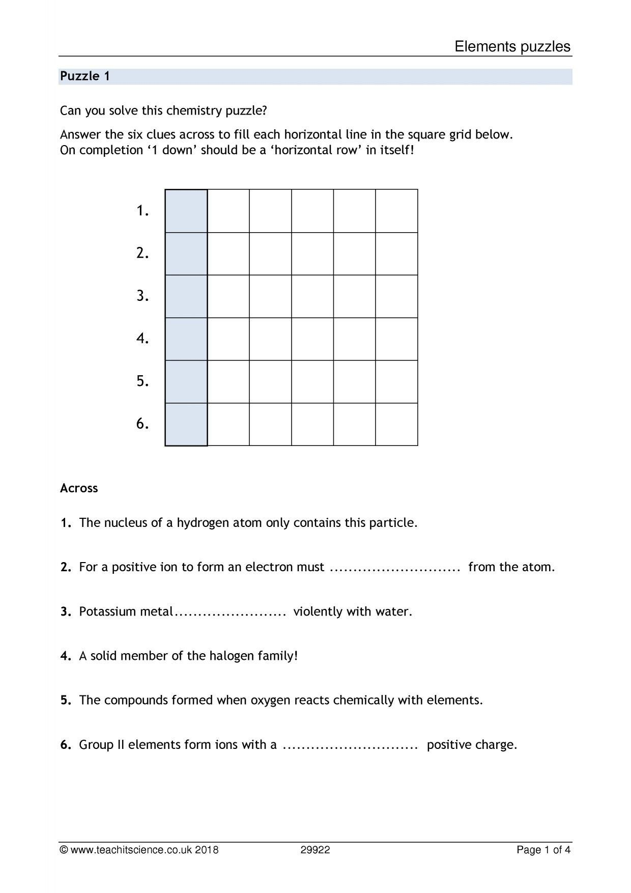 Charges Of Ions Worksheet Answer Key