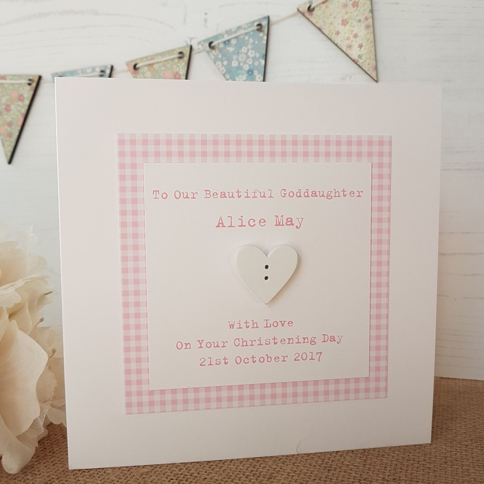 Personalised Christening Card Godson Goddaughter Son