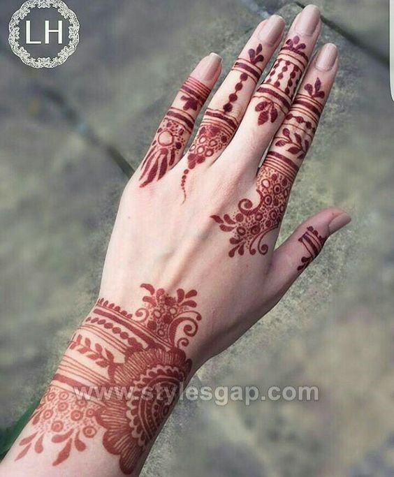 beautiful easy finger mehndi designs 20182019 styles
