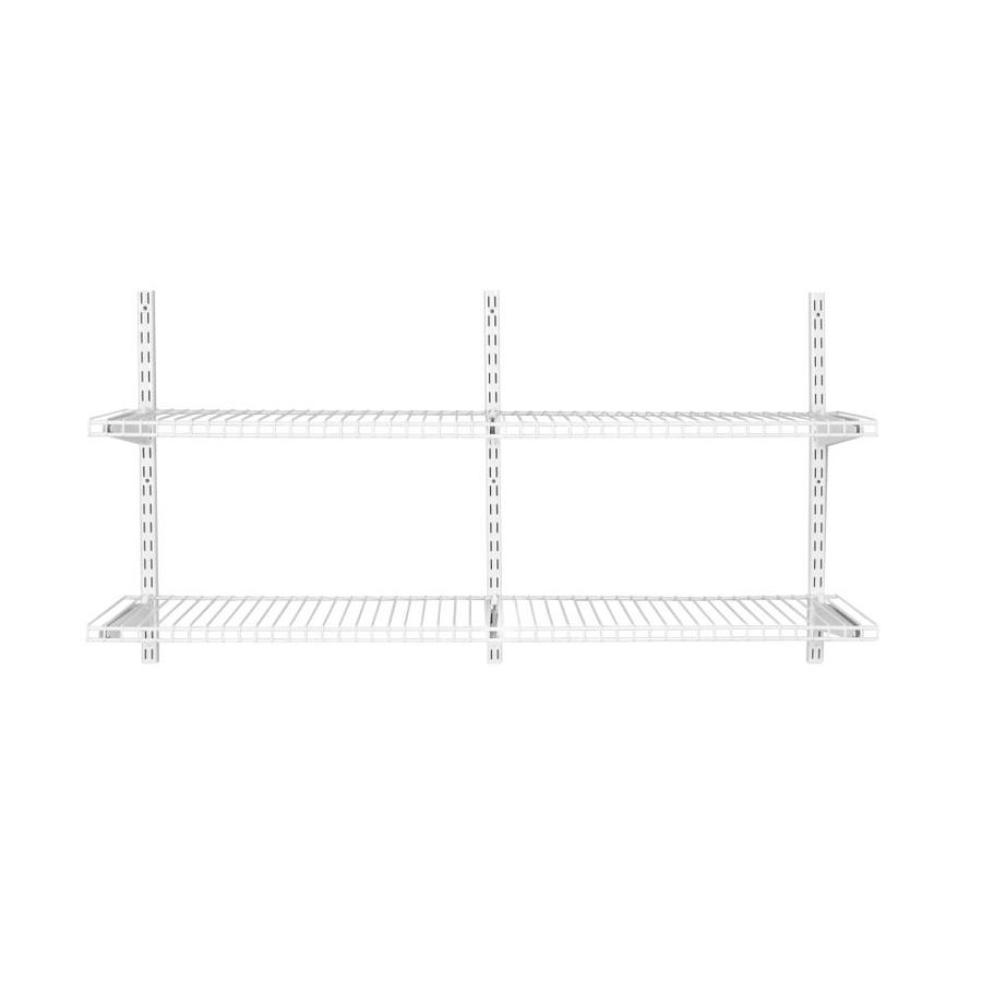 Rubbermaid Fasttrack 96 In X 1 9 In X 12 In White Wire Shelf Kit Lowes Com Wire Shelving Wire Closet Kits Closet Kits