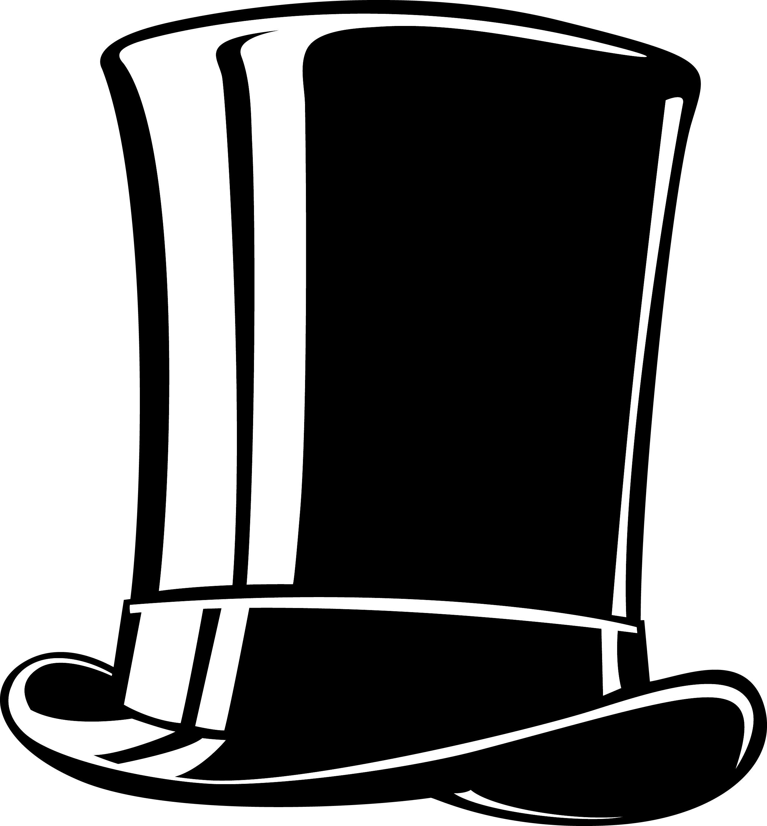 top hAT Google Search Clipart black and white, Hat vector