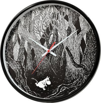 Wall clock, running Moomin troll