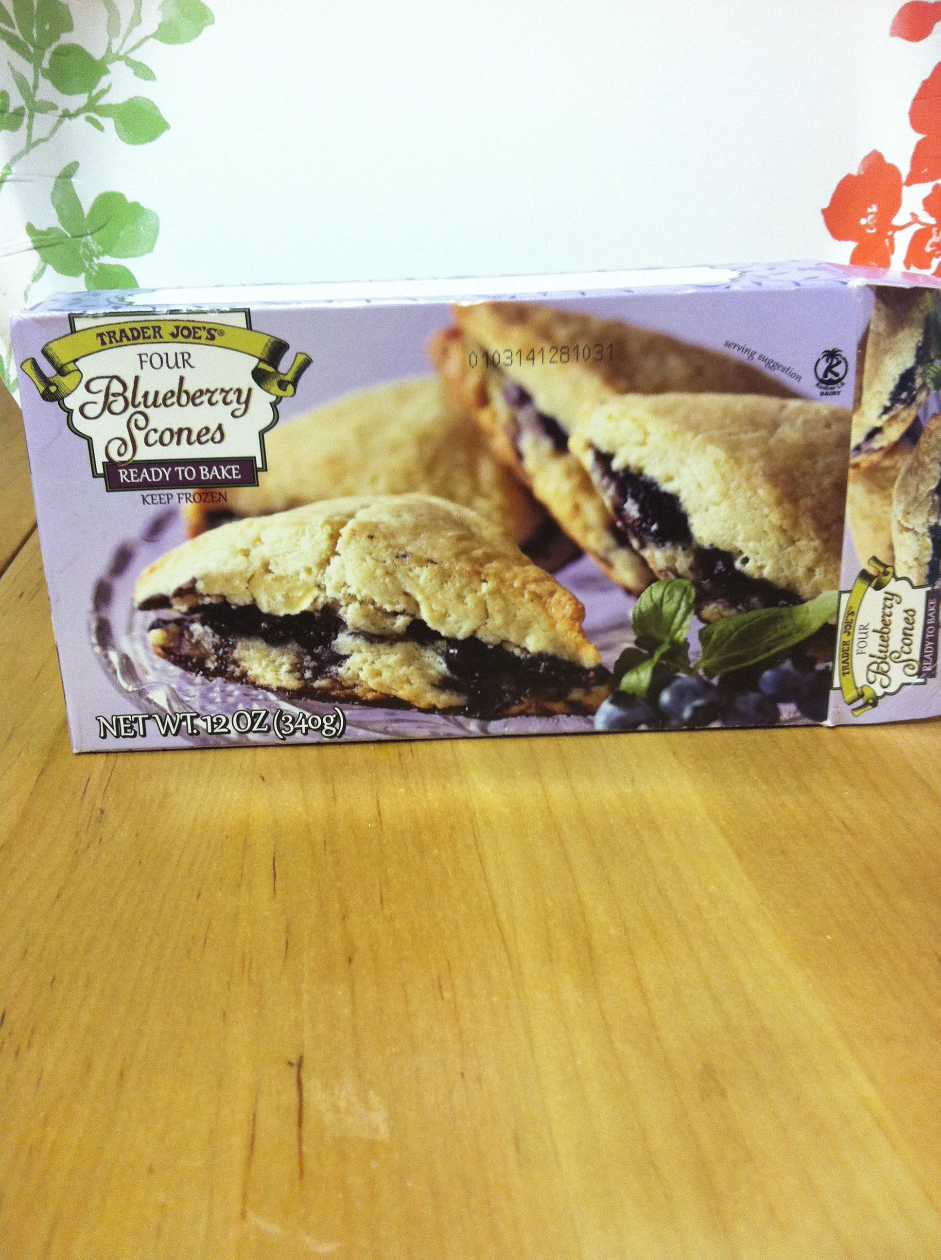 Kids LOVE these frozen Trader Joe\'s Blueberry Scones. Went back to ...