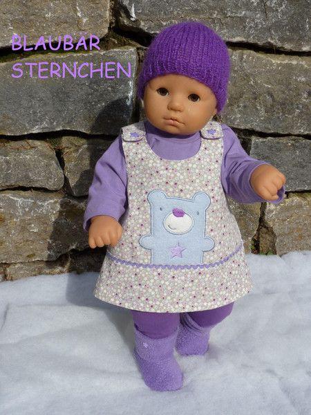 """Puppenkleidung – """"BlaubärSternchen"""" 5tlg Set Gr.45-50cm – ein Designerstück vo…"""