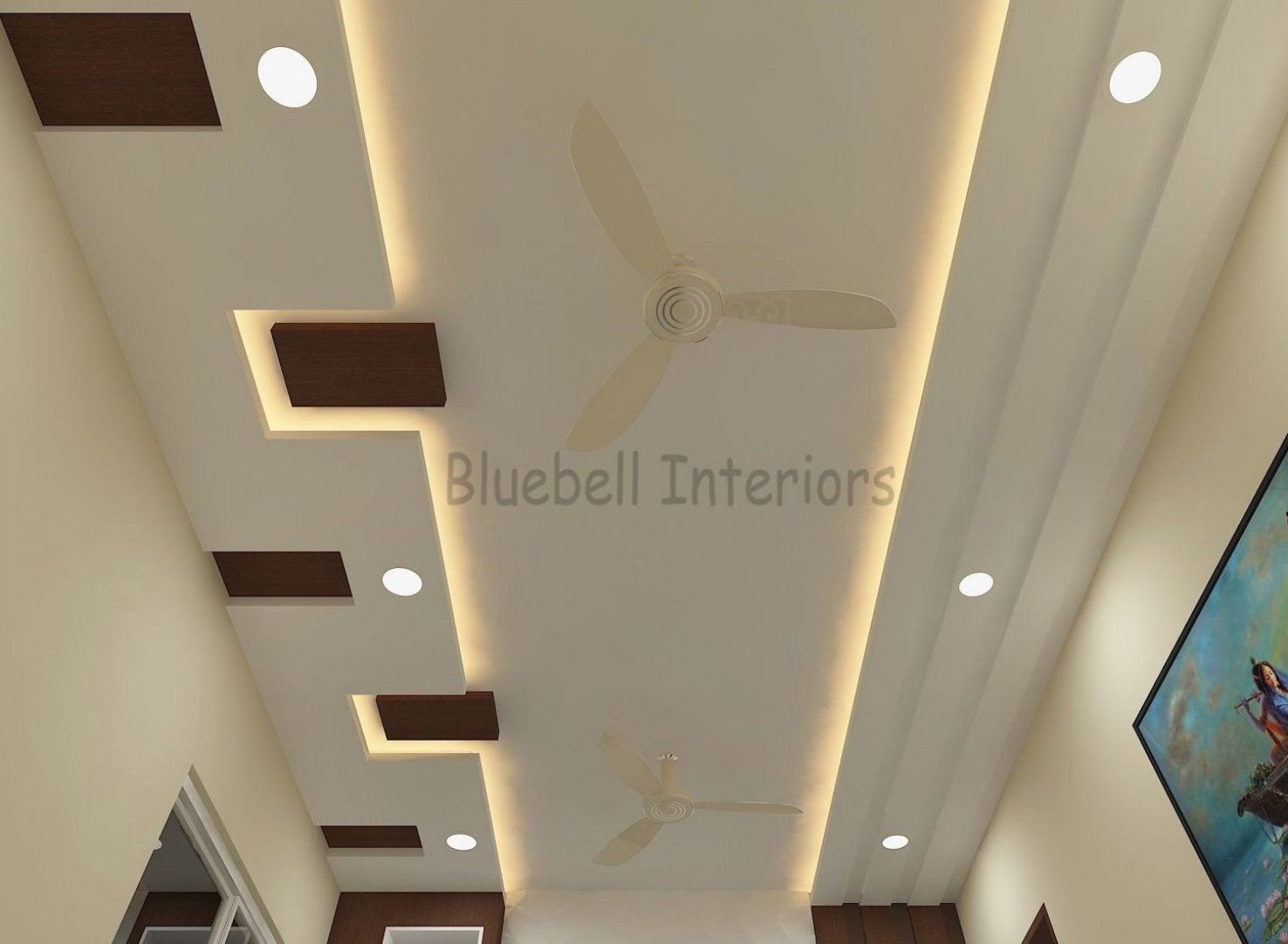 A Combination A Wood Gypsum Ceiling With Concealed Lighting Livingroomdecor Homedeco In 2020 Ceiling Design Modern Ceiling Design Living Room House Ceiling Design