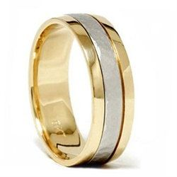 Hammered Platinum 18 K Yellow Gold 6 Mm Flat Comfort Fit Mens Wedding Ring Band Two Tone Size 7 12 Mk