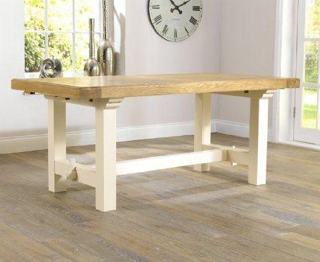Muebles de madera maciza de roble pintado de mesa de comedor ...