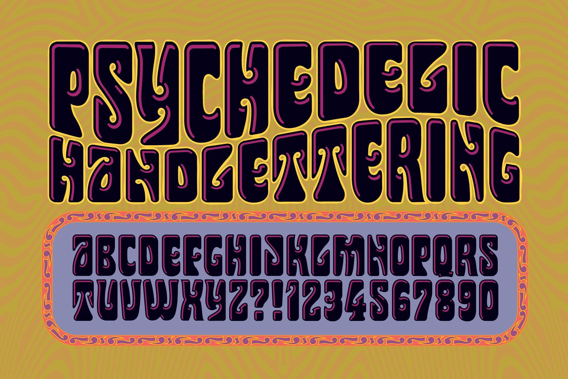 Psychedelic Handlettering In 2020 Psychedelic Poster Poster Design Software Hippie Font