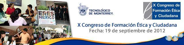 Sitio del X Congreso de Formación Ética y Ciudadana, a celebrarse el 19 de septiembre de 2012.