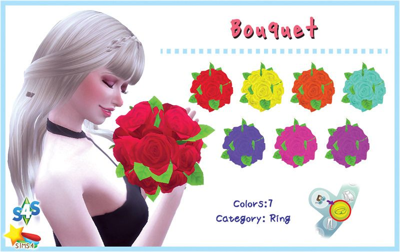 Bouquet download thanks to all the cc creators