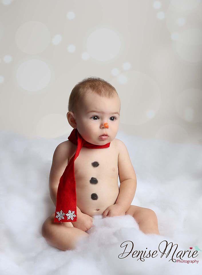 Snowman Baby Pic Adorable Portfolio Tampa Photographer
