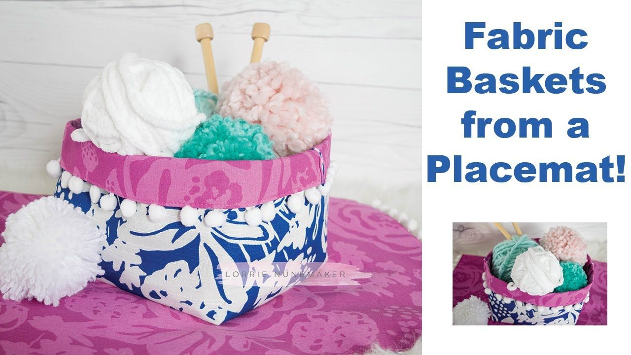 96881a478b6 Fabric Basket from a Placemat! Easiest Sewing Project EVER! - YouTube