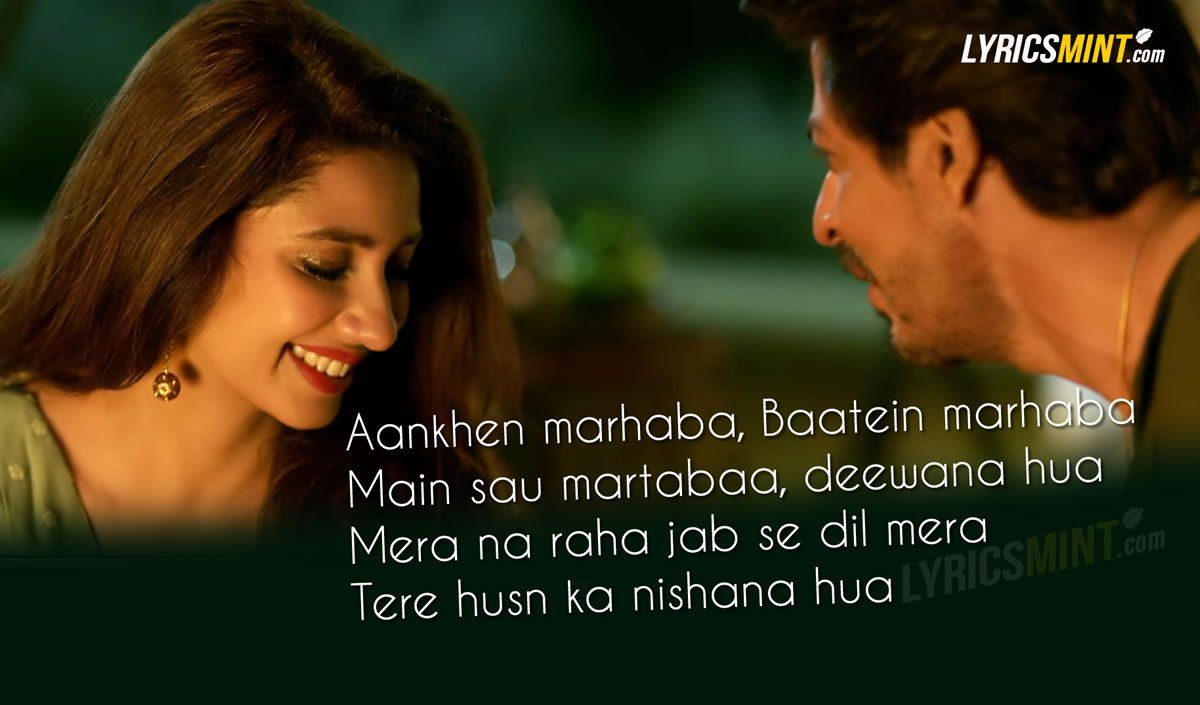 Zaalima Lyrics Quote From Raees Starring Shahrukh Khan Romantic Song Lyrics Love Songs Lyrics Bollywood Quotes