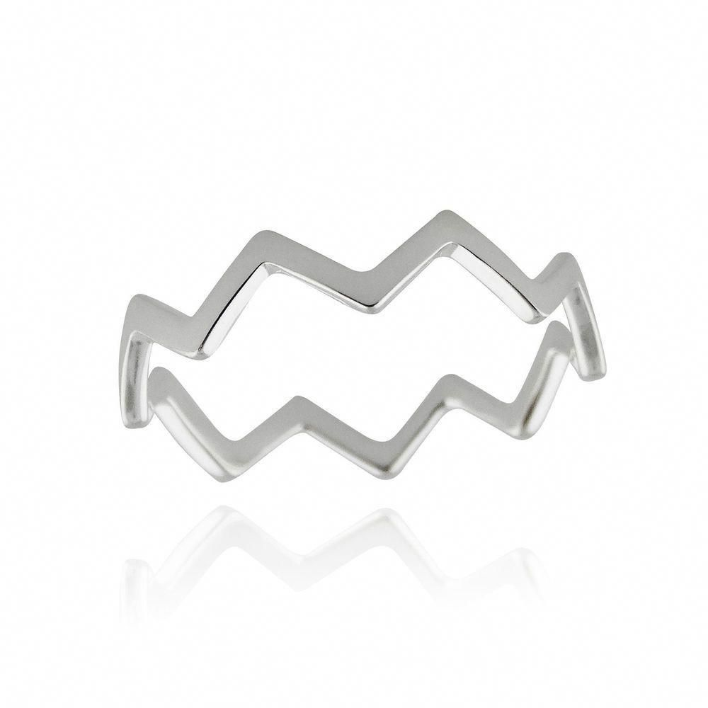 925 Sterling Silver Chevron Zigzag Ring Sizes 3-10 Midi Knuckle Rings NEW