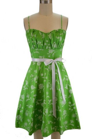 ruched bust sun dress with peek-a-boo tulle - lime green floral ...