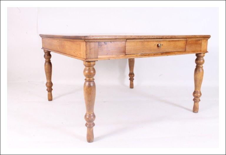 Tavolo Quadrato Antico Allungabile.Grande Antico Tavolo Olmo Quadrato 800 Restaurato Naturale