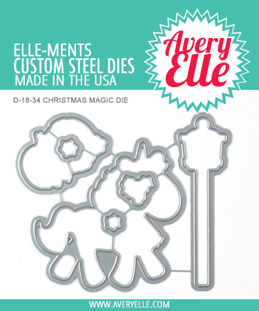 Avery Elle ST-18-34 Clear Stamps Christmas Magic