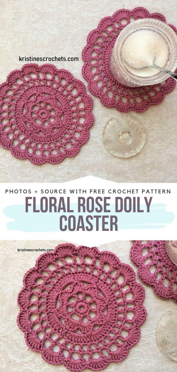 Cute Circular Coasters Free Crochet Patterns