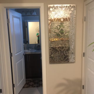 Mirrored Damask Mosaic Wall Panel (With images) | Damask ...