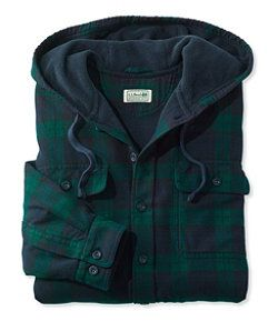 Men's Fleece-Lined Flannel Shirt, Traditional Fit,
