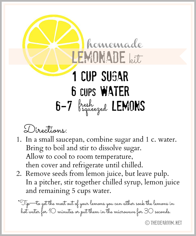 Homemade Lemonade Gift Kit And Printables Homemade Lemonade Recipes Homemade Lemonade Lemonade Recipes