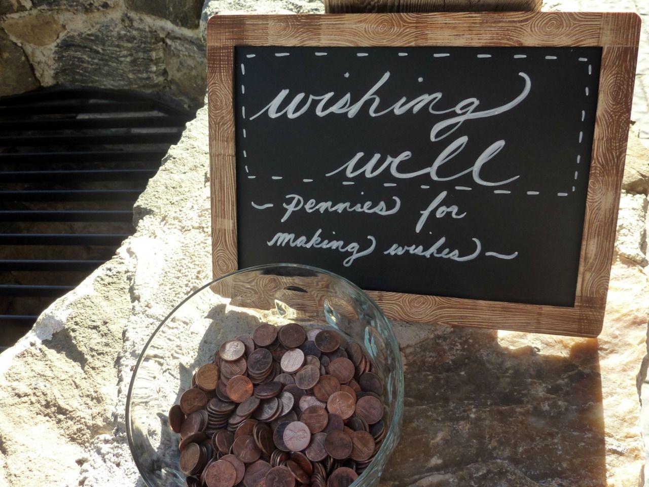 Wishing Well Pennies Weddings Amp Events Pinterest