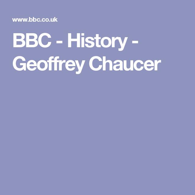 BBC - History - Geoffrey Chaucer