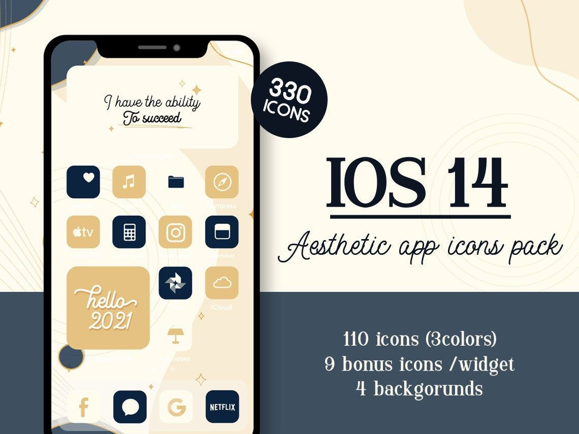 2021 Quotes Ios14 App Icons Aesthetic Iphone Deco Ios 14 Etsy App Icon Themes App App