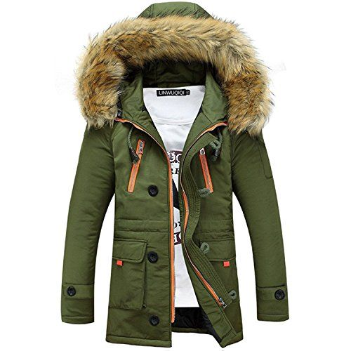 Minetom ShallGood Herren Jacke Parka Winddicht Coat Mantel
