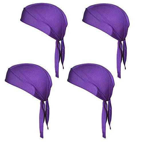7a53143f483 Quick Dry Sweat Wicking Beanie Cap Adjustable Cycling Cap Hat Skull Cap  Chemo Head Wrap Bandana For Men Women Helmet Liner Pack of 4     You can  find more ...