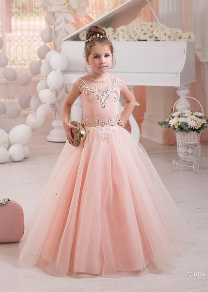 2d7b228e23ea5 Flower Girl Dress, Princess Flower Girl Dress, Lovely Girl Dress ...