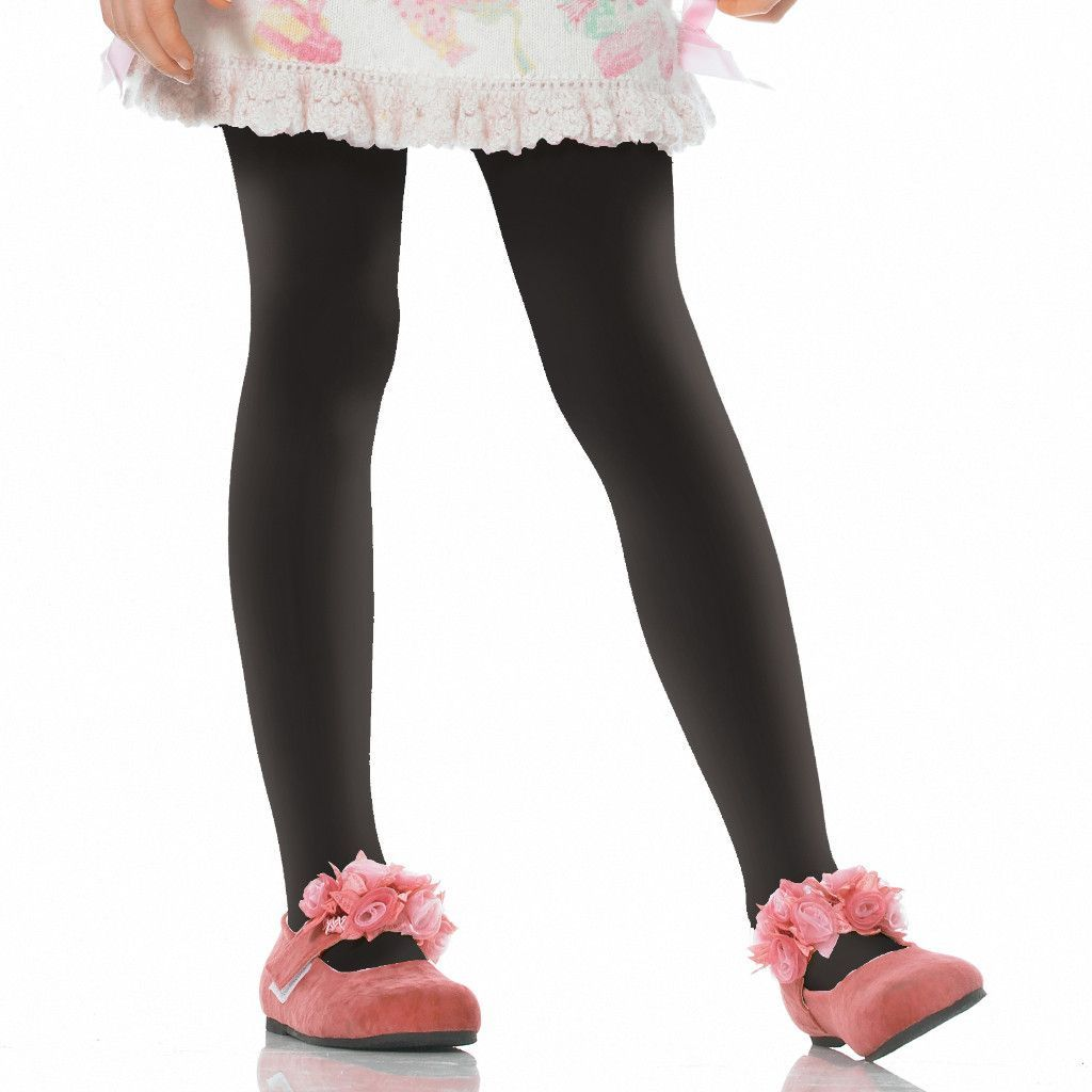 black opaque tights child | large (7/10)