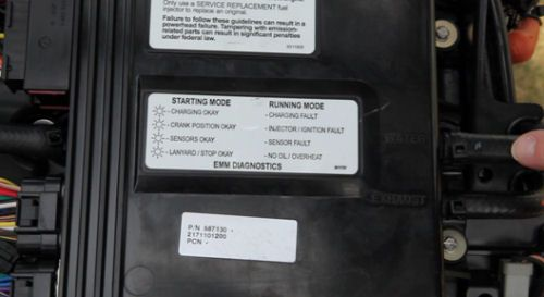 Evinrude E-TEC 250 H O : LED indicators are correlated to this guide