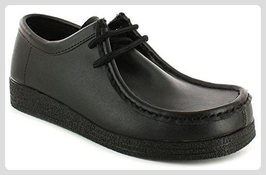Surge Leder Damen Frauen Leder Surge Schnürschuh Mokassin Schul Stil Schuhe 0093c4