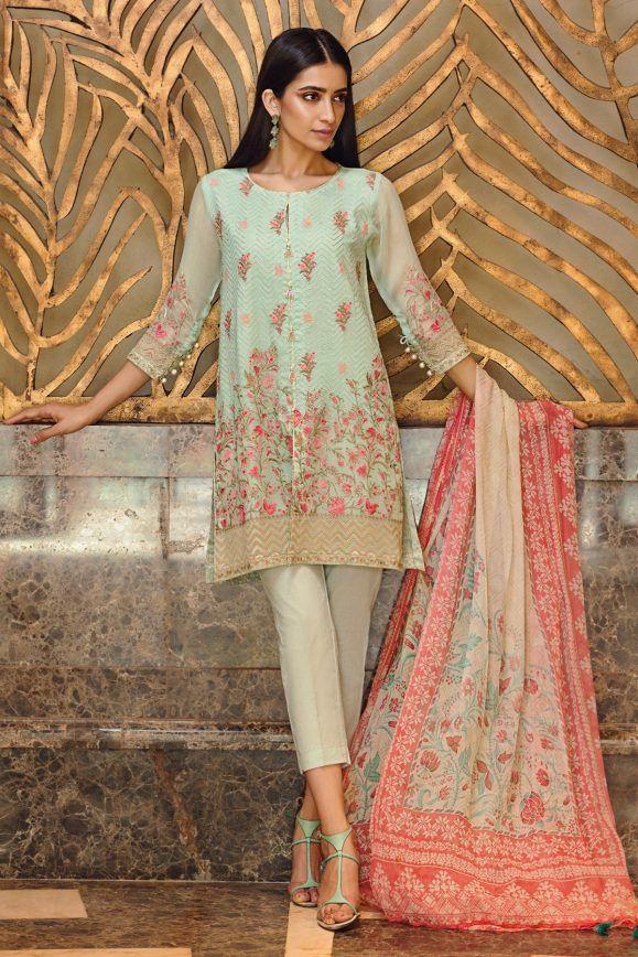 87ec680310 Khaadi Lawn Chiffon Eid Dresses Designs Collection 2019 | rupa ...