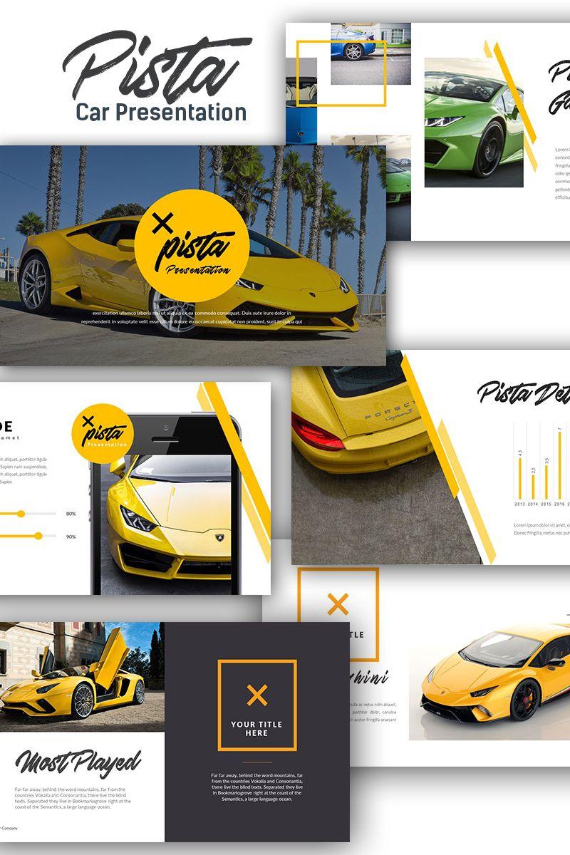 pista car presentation keynote template wordpress theme free