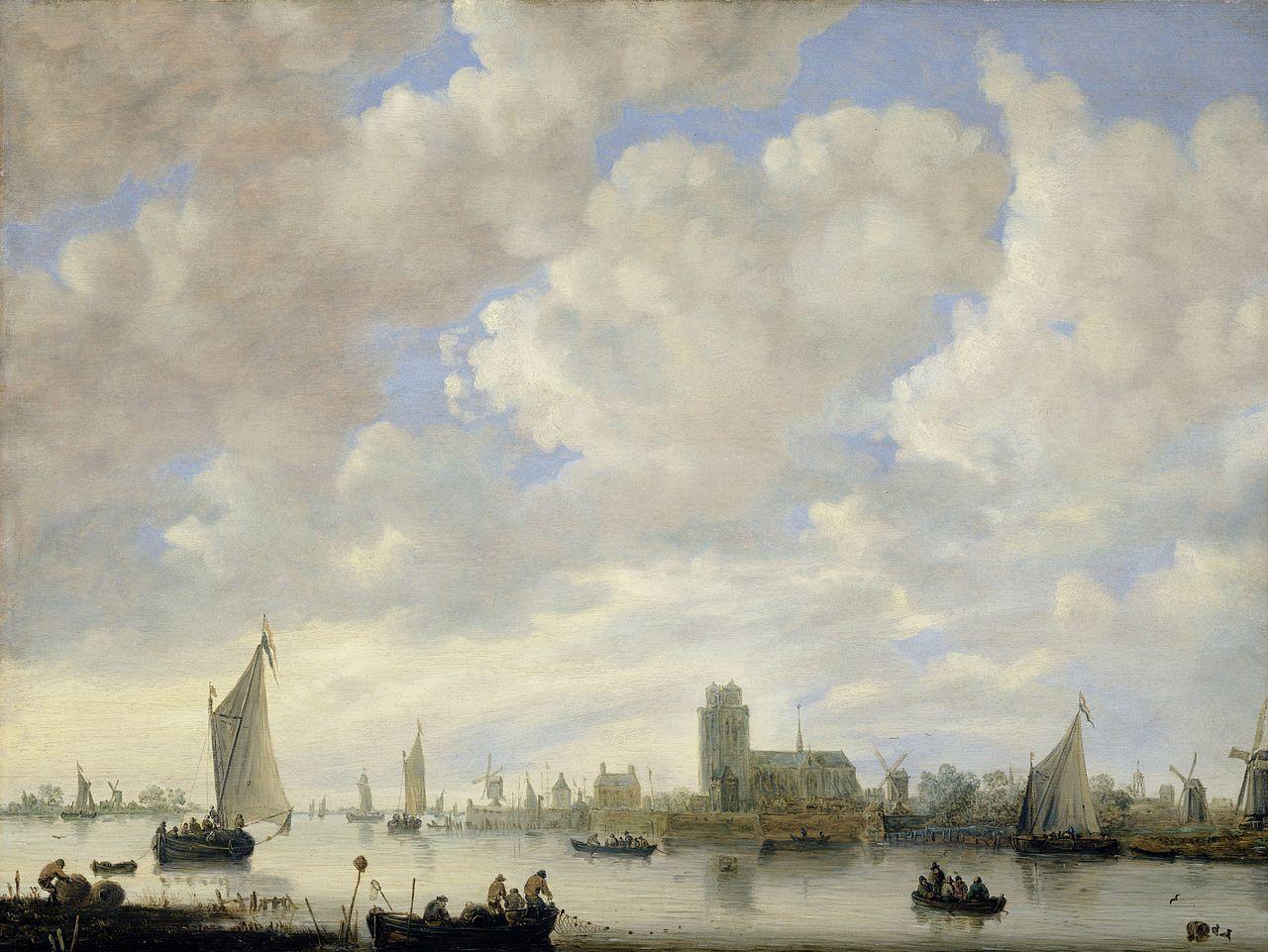 Jan van Goyen - Gezicht op de Merwede bij Dordrecht