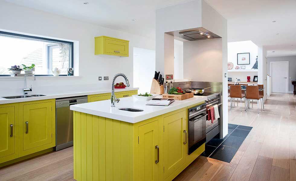 Clapham Shaker Kitchen: Harvey Jones Yellow Shaker Style Kitchen