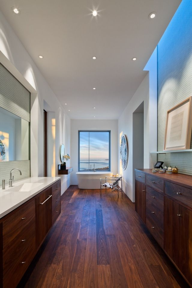 Holzboden Badezimmer | Badezimmer mit Holz | Badezimmer ...