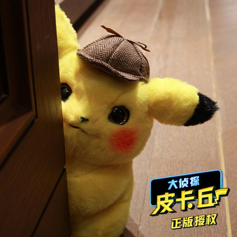 Details About Official Movie Pokemon Detective Pikachu Plush Doll Toy Gift Cushion Cosplay 12 Pikachu Plush Pokemon Plush Plush Dolls