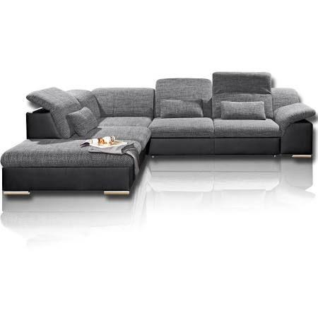 Roller Ecksofa Eckcouch Schwarz Dunkelgrau Mit Funktionen Moderne Couch Sofa Sofa Weiss Grau