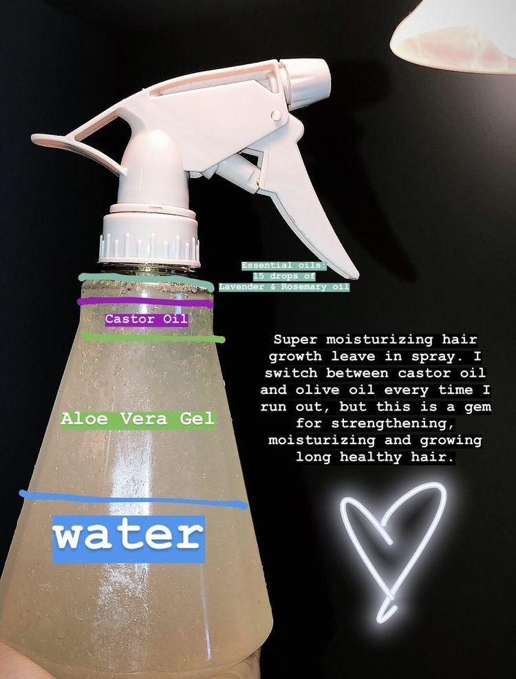 Hair growth spray by boujie doll on hair tings