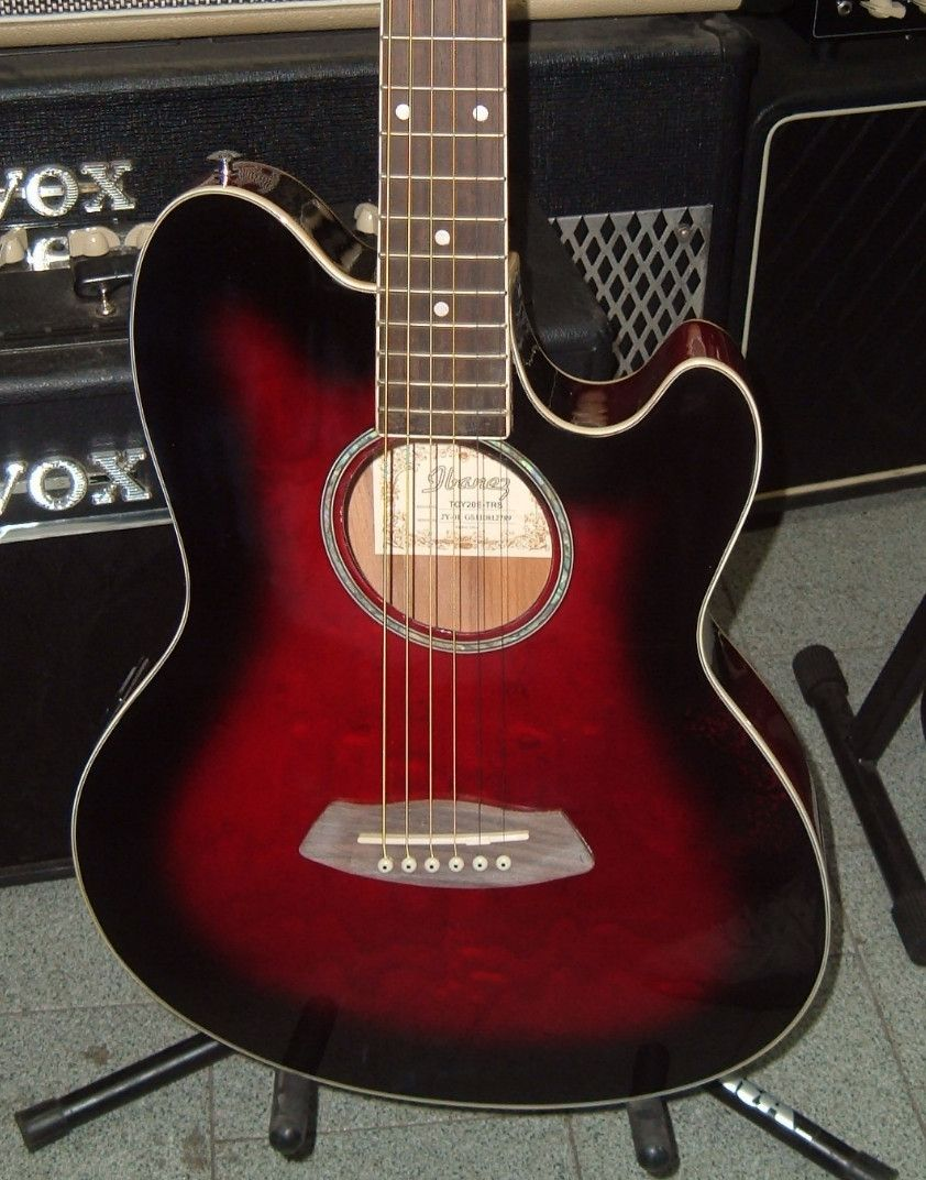 Ibanez tcy20e talman acoustic electric guitar trans red sunburst acoustic guitar asfbconference2016 Image collections