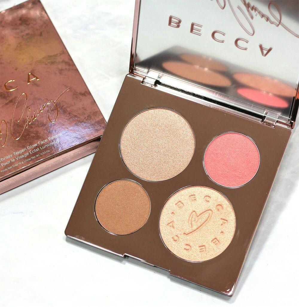 Becca Glow Palette Becca X Chrissy Makeup Blush Highlight Palette Beauty Blush Makeup Hair And Makeup Tips Beautiful Makeup