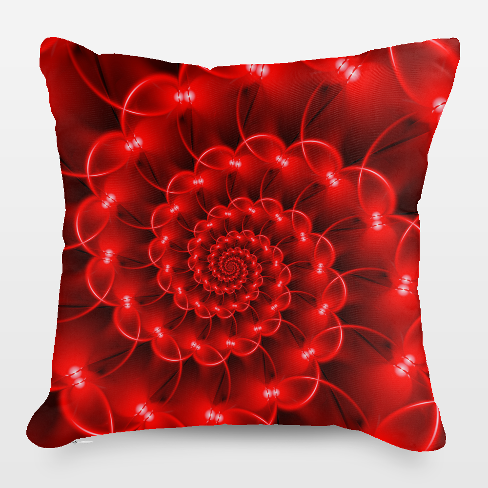 Fun Indie Art from BoomBoomPrints.com! https://www.boomboomprints.com/Product/kittybitty/Glossy_Red_Spiral_Fractal/Throw_Pillows/Small-_14x14/