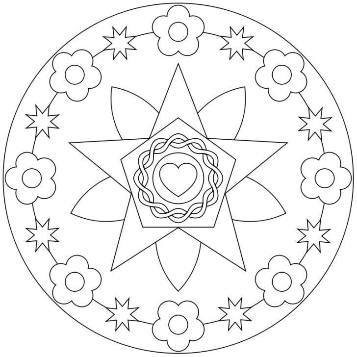 Mandala-Ausmalbild Nr. 12   Mandalas   Pinterest   Ausmalbilder ...