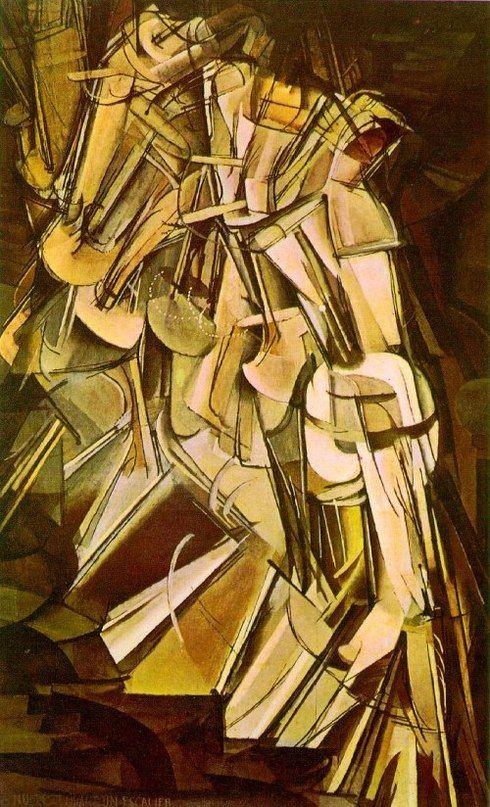 Марсель Дюшан. Обнаженная, спускающаяся по лестнице, № 2. 1912. Холст, масло. Художественный музей, Филадельфия Кубизм