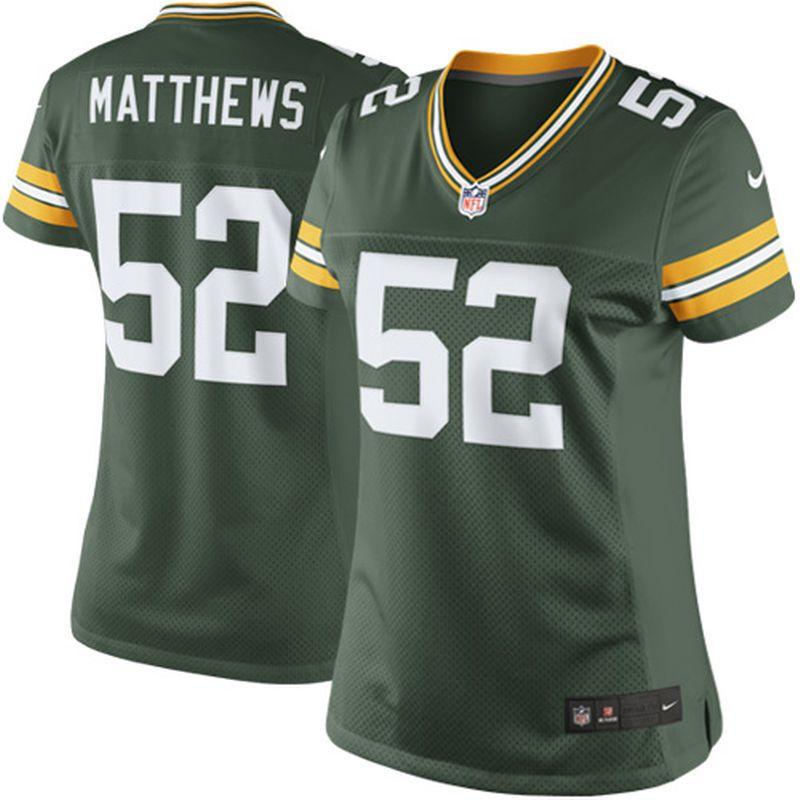 0d3eb3d29 Clay Matthews Green Bay Packers Nike Women s Limited Jersey - Green ...